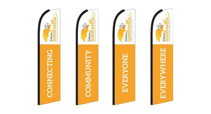 Big Yellow Umbrella - Banner Design